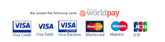 We accept the following cards for online payment