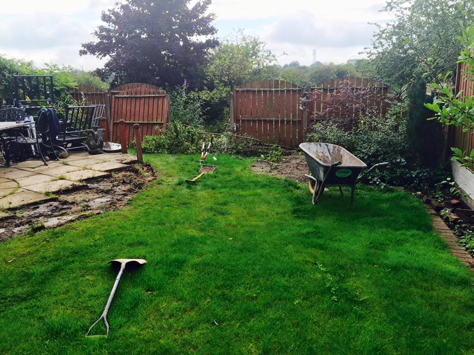 Before Artificial Grass in Failsworth