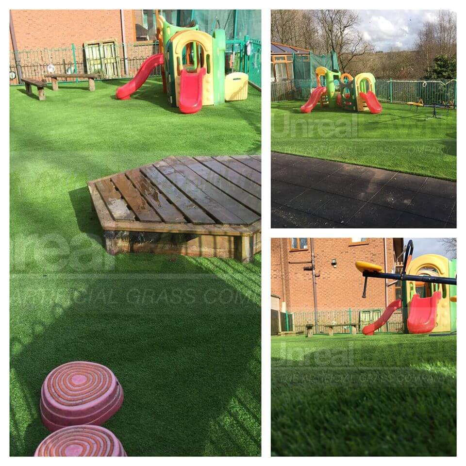 Artificial Lawn with Kids Play Area