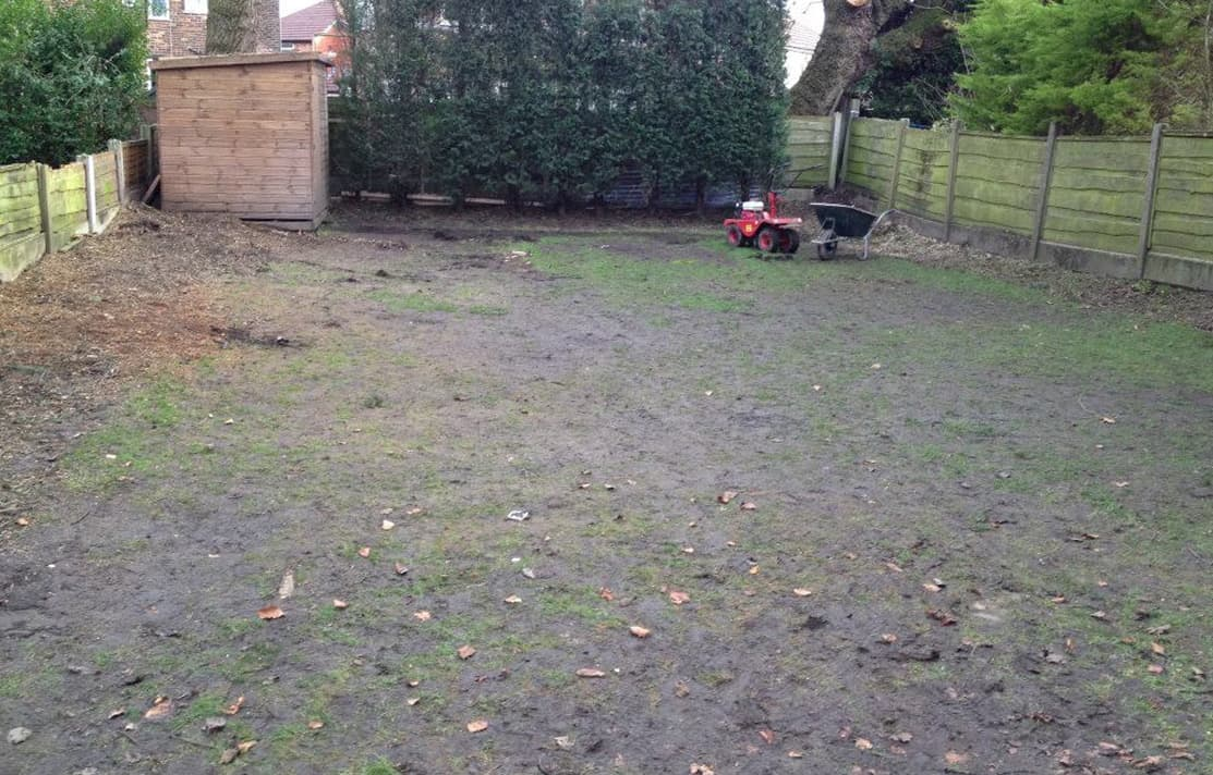Before Artificial Grass in Prestwich